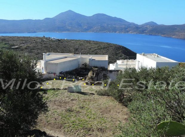 2 plots for sale 308 m2, Tripiti, Milos